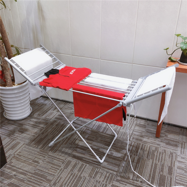EV-230 Household Balcony Aluminium Folding Portable Laundry Rack Cloth Stand Electric Clothes Dryer