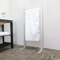 EV-120-2 Bathroom Ladder Aluminum Silver Towel Warmer Floorstanding Electric Heated Towel Rail