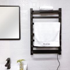 EV-140 Bathroom Black Towel Warmer Wall Mount Electric Heated Towel Rack