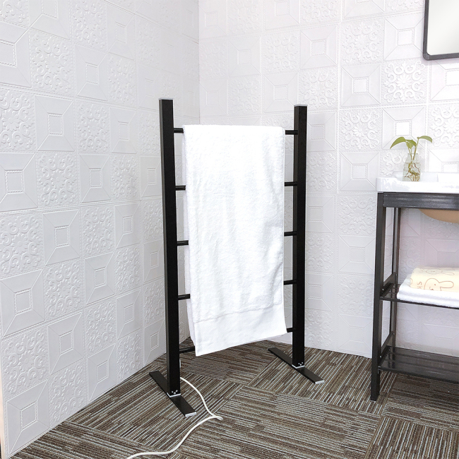 EV-100 Floor Standing Heated Warmer Electric Towel Stand Rack Holder