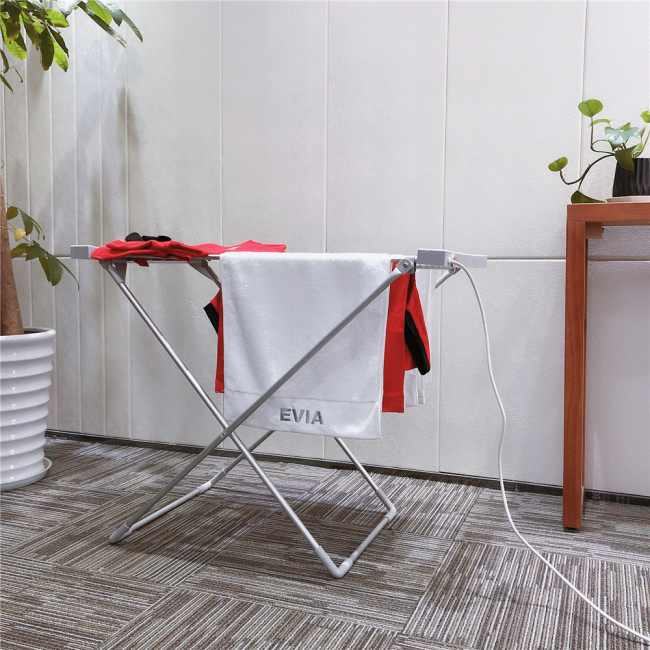 EV-120 Aluminum Foldable Hanger Portable Folding Heated Cloth Airer Electric Clothes Dryer Machine For Laundry