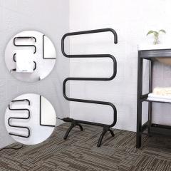 EV-100-S Free Standing Towel Warmer Black Electric Heated Towel Rack Stand For Bathroom