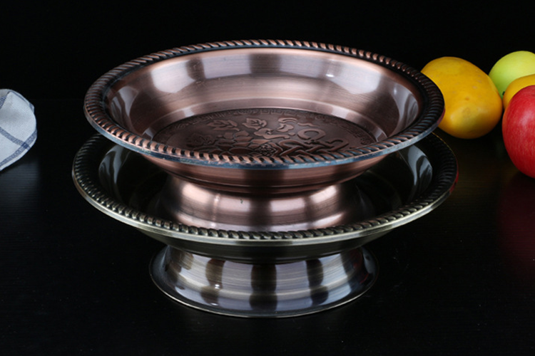 Western-Style-Stainless-Steel-Food-Plate-Round-Snack-Tray-Dinner-Plate-for-Restaurant-LBFP1031