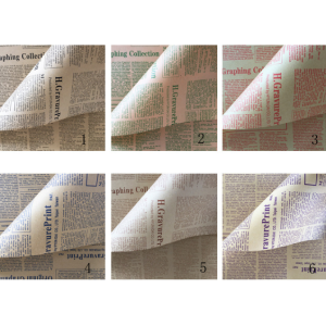 Traditional English Kraft Newspaper Flower Wrapping Paper