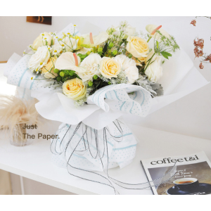 Waterproof Happiness Colorful Flower Wrapping Paper