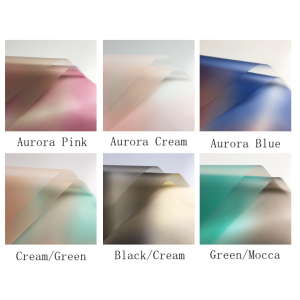 Waterproof Aurora Colorful Flower Wrapping Paper