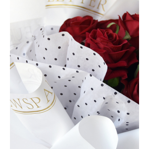 Tissue Paper Flower Wrapping Dotted Design