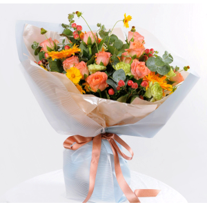 Tissue Paper Flower Wrapping Shining Colorful Design