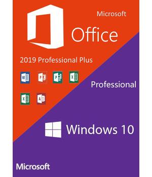 Windows10 PRO + Office2019 Professional Plus CD Keys Pack