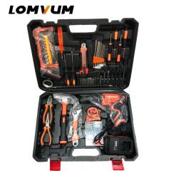 Hand Tool 27PCS QL Multi Functional Professional Electric Cordless Impact Drill Set Tool Kit