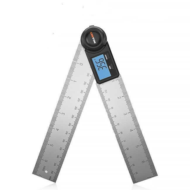 LOMVUM Digital Angle Measuring Ruler Multi-useful