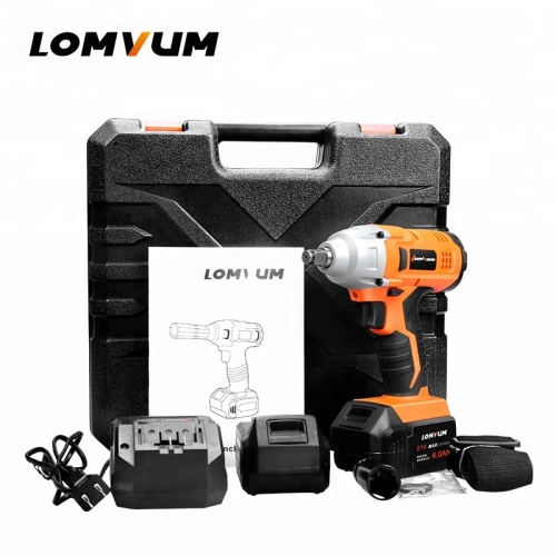 Lithium electrical cordless torque impact wrench with LED