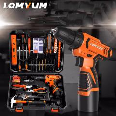 LOMVUM Hand Tool Electric tools Multi Functional Electric Cordless Drill Set Tool set DIY