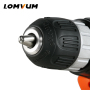 Lomvum rechargeable 12V variable speed cordless mini electric screwdriver with 2 battery