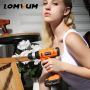 LOMVUM Power Tools With Impact Function Portable Cordless Battery Electric Drill