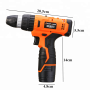 24V 2.0Ah Cordless Lithium Battery Rechargeable Electric Drill Machine With Impact