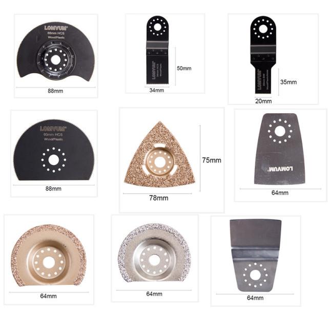 Lomvum Oscillating Multi Tool Saw Blades Bi Metal High Carbon Carbide C