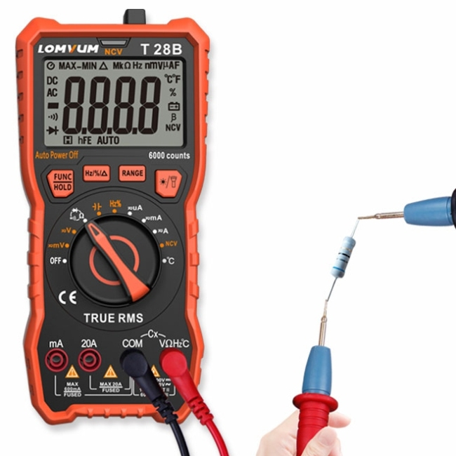 Lomvum NCV AC/DC voltage digital 6000 counts measurement multimeter