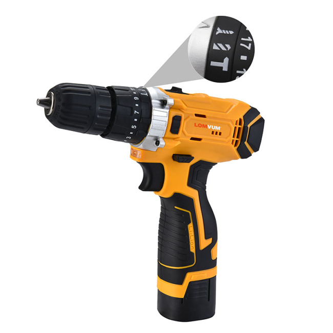 Double Speed Battery power impact cordless hand drill