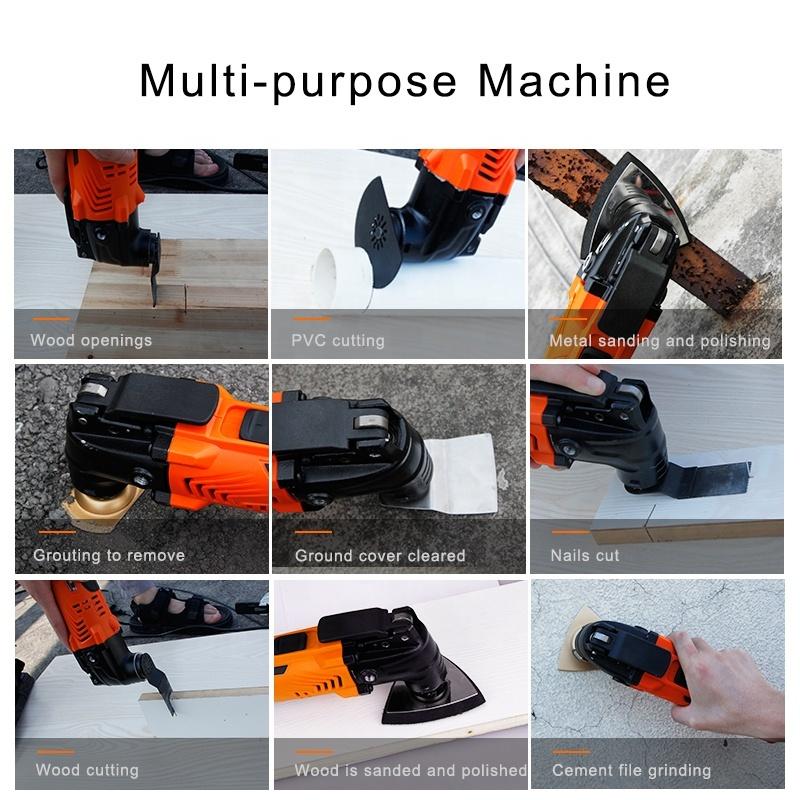 LOMVUM multi function multi tool with oscillating multi tool saw blade set