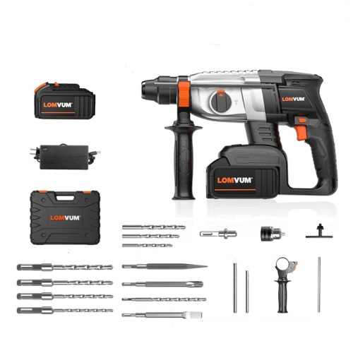 Professional hammer drill li-ion cordless rotary hammer with brushless motor