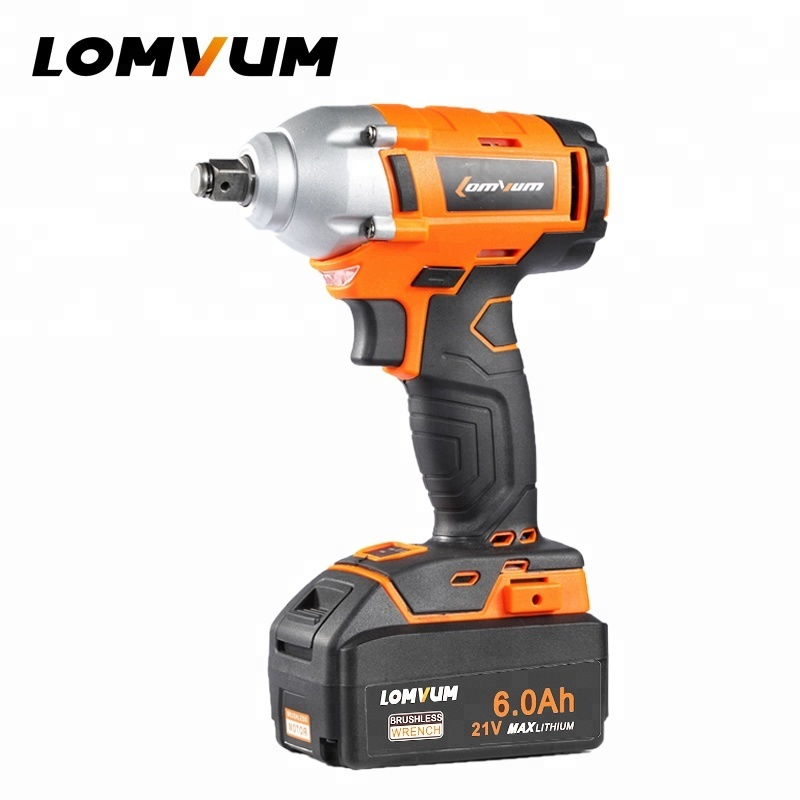 320 NM 280 NM Switch Brushless Motor Electric Cordless Impact Wrench With LED Light
