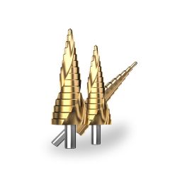 HSS/M35 step drill bits set for wood metal drilling