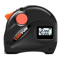 LOMVUM Rechargeable USB Charging Tape Measure 5m LCD Digital Display Laser Range Finder 5M Digital Tape