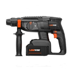 Professional rotary hammer drill brushless motor and 21V chargeable battery drilling