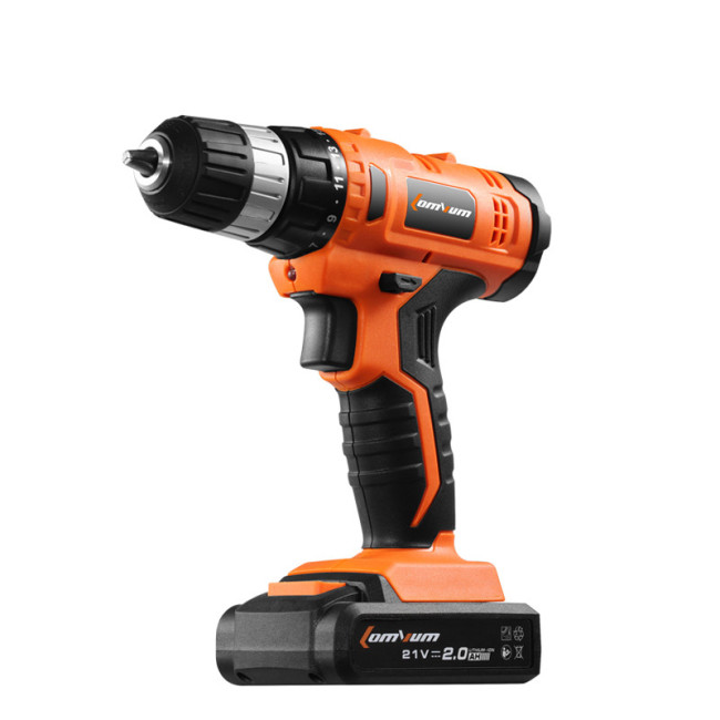 Cordless Drill Impact Driver Battery Operated Impact Cordless Drill Set with 2 Lithium Ion Batteries 2000mAh