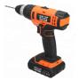 LOMVUM 2 Speeds Trigger Switch Power Tools Battery Drills Cordless Hammer Impact Drill Set