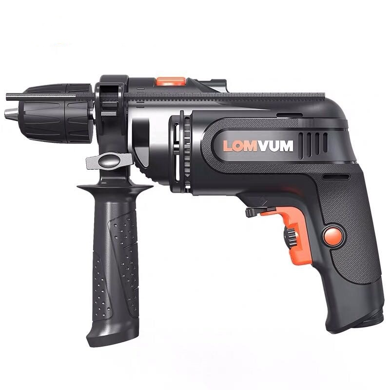 LOMVUM Electric Screwdriver Rechargeable Impact Drill Hammer Impact Hand Drill Multi-function Woodworking Power Tool
