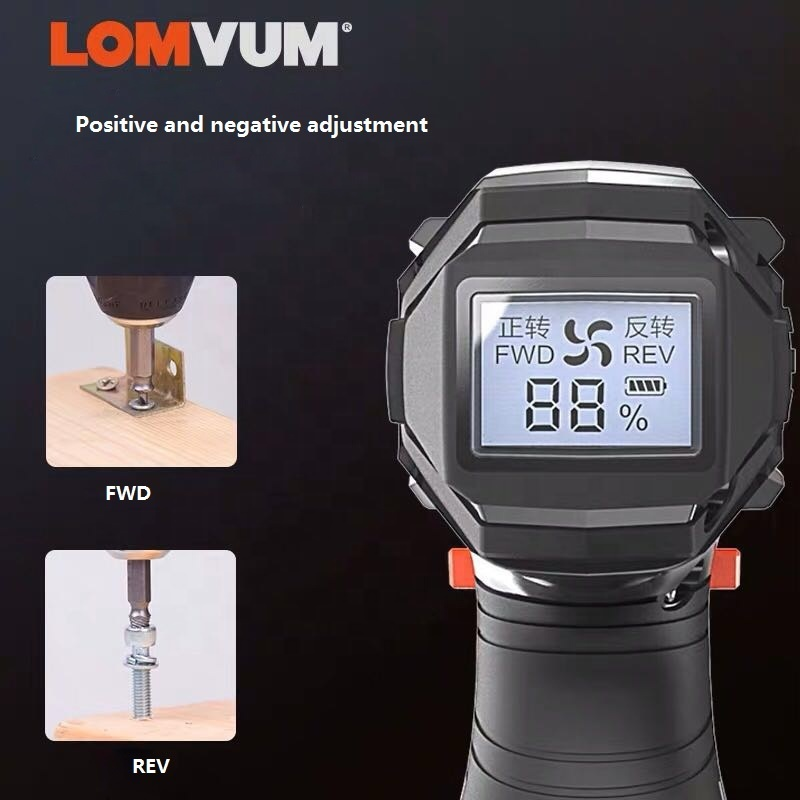 Lomvum Hot Sales 12V 16.8V 25V Battery Two Speeds Electric Cordless digital Drill