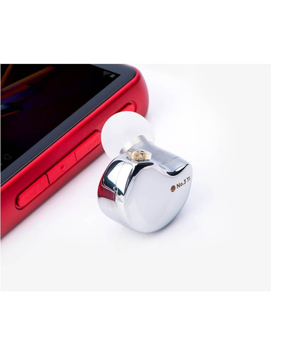 TFZ NO.3 Ti Dynamic Driver 0.78 mm 2pin IEM Transparent HiFi Bass Noise Cancelling Earbuds