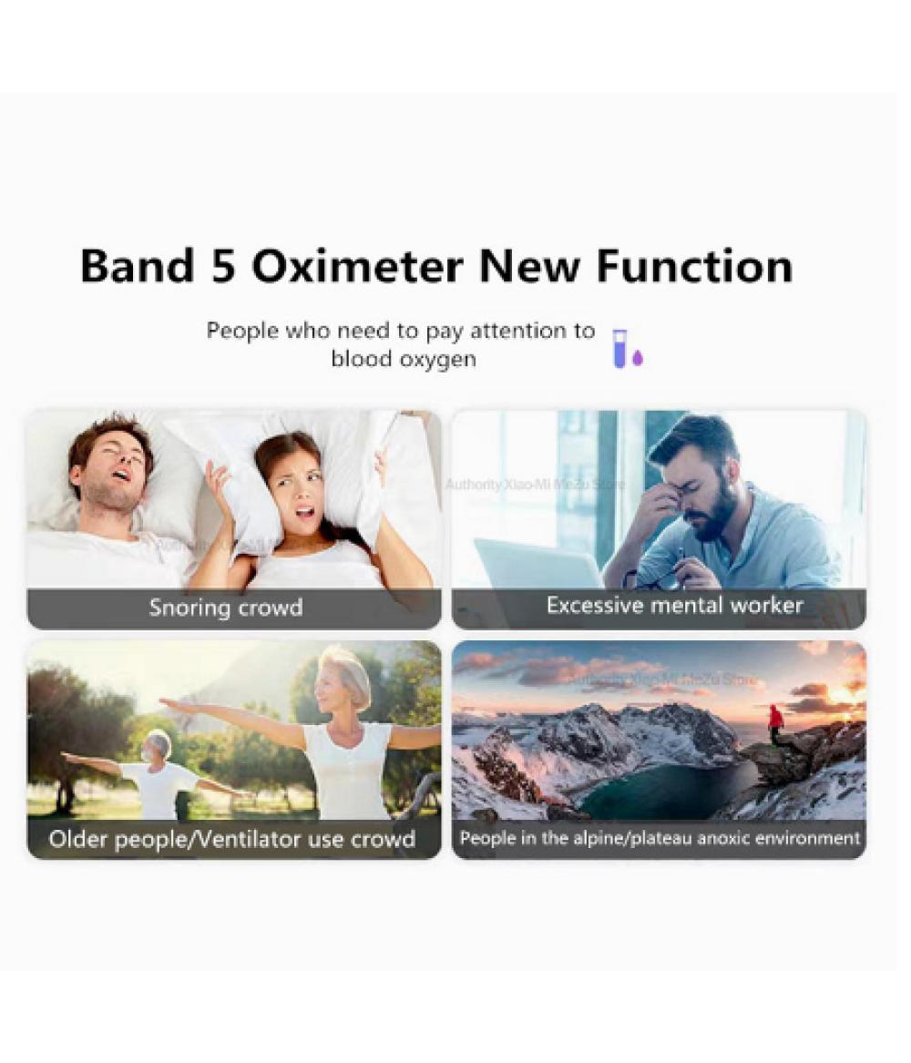 Original Huawei Honor Band 5 Touch Screen Swim Oximeter Touch Screen Magic Color Swim Heart Rate Detect Sleep Nap Honor Band 5 Smart Wristband