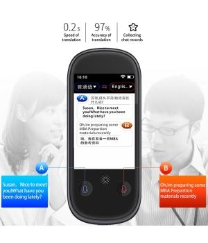 New Trending Product Smart Voice Translator W1 Pro Wifi 3 inch LCD/IPS 2.4G WiFi BT4.0 1GB+8GB Quad-Core 76 Languages Smart Translator