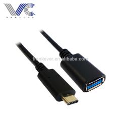 USB Standard Female to Type C Male USB2.0 Cable Black-molding PVC