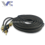 2R RCA Cable 2R Male to 2R Male Black Wires 3.5mm