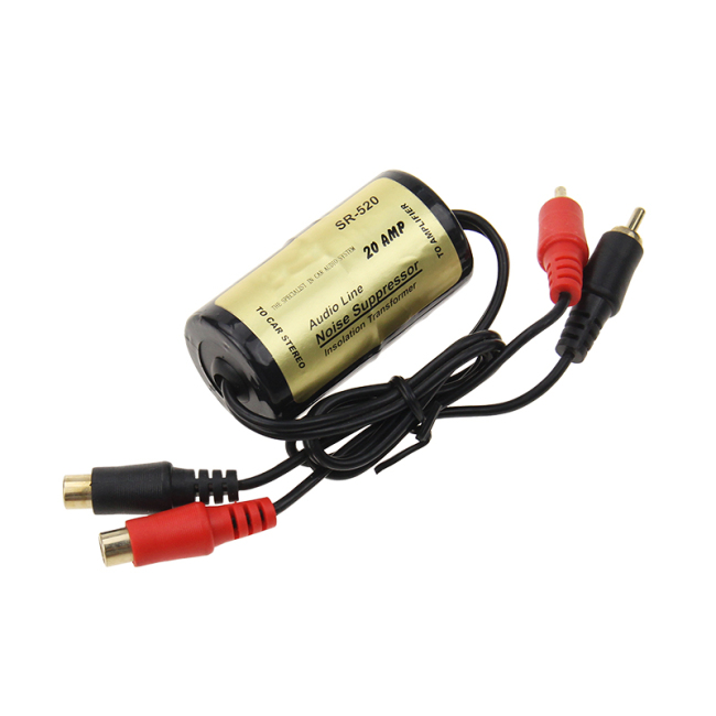 20A Audio Ground Loop Noise Isolator filter for Car Audio Electric hum noise reducer