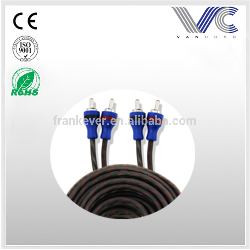 Hot sale 2017 black transparent flexible frosted OFC audio video RCA cable