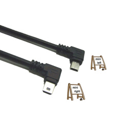 USB 2.0 Extension Data Cable Left and Right Angle Charging Cable