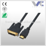 HDMI to DVI-D Dual Link Cable Gold 24k V1.4, 3 Feet