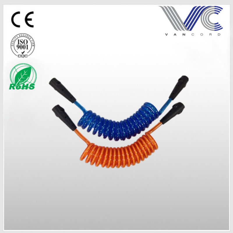 High quality colorful PU swivel surfing coiled rope