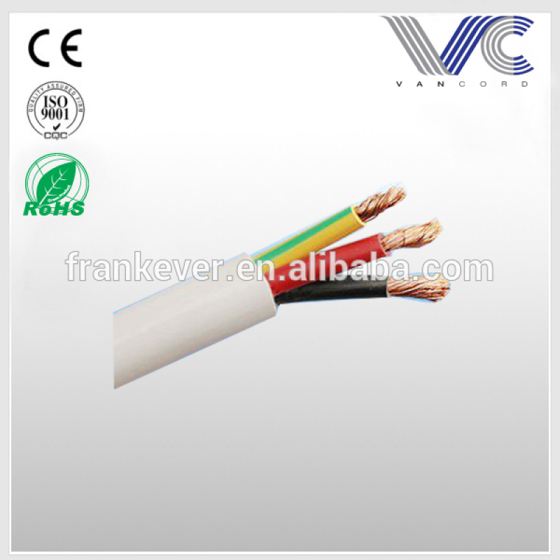 6.00mm 3 cores PVC power cable