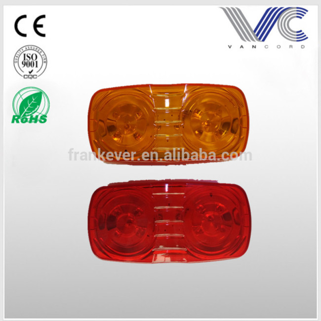 Round shape Led Side Marker Amber Red Indicator Trailer Lights Lamp Pair Made in China
