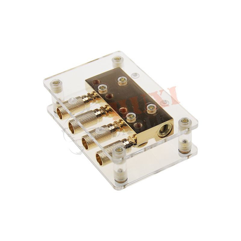 brass with true Gold plated ditibution block    ,car audio accessories