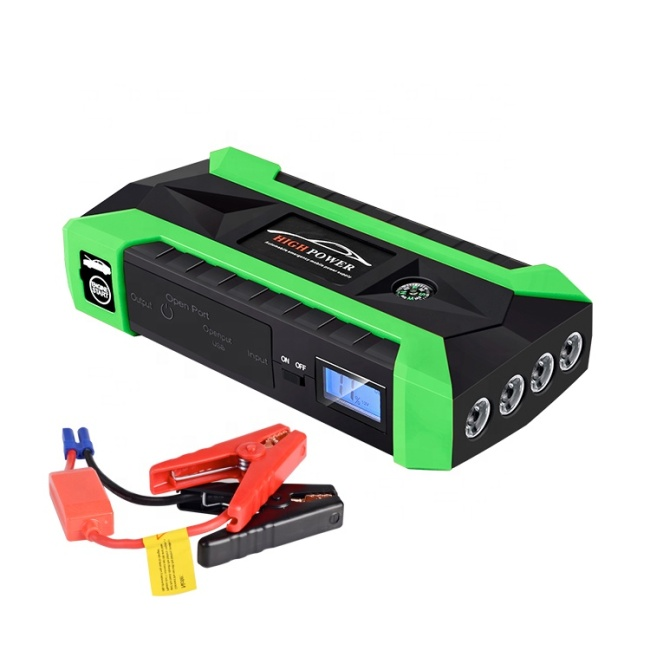 Full Charging Cycle Life Portable External Battery Charger with LED Flashlight and Carrying Case