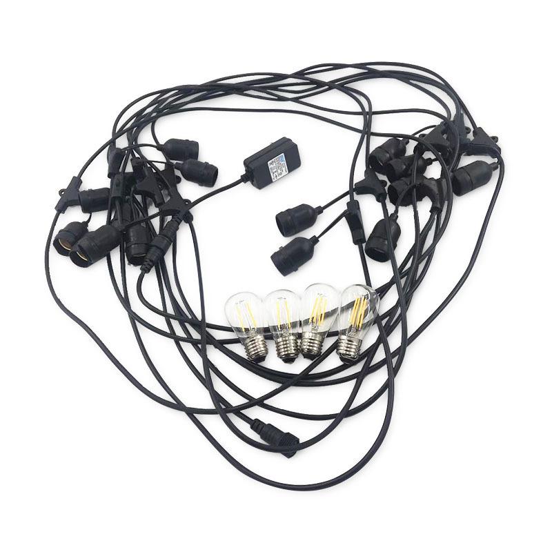 Connectable, Waterproof, Indoor/Outdoor led String Lights for Patios, Parties, Weddings, Backyards, Porches, Gazebos, Pergolas