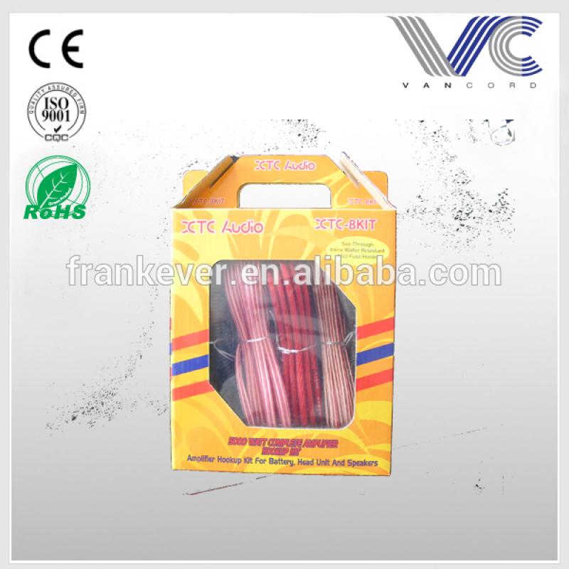 Hot sale customized car amplifier AMP wiring kit