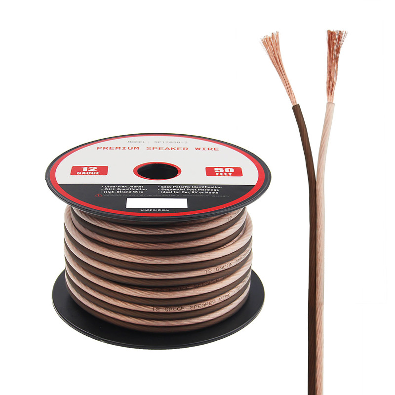 12 AWG CCA red flexible professional speaker cable wire